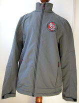 Veste homme Trial softshell grand logo side-car brodé au dos et petit logo officiel côté coeur