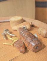 Válvula de madera o latón.