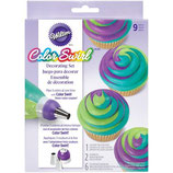 Wilton ColorSwirl Tri-Color Coupler Dekorations Set 9tlg.