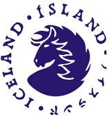 Aufkleber - Island mit Schriftrand