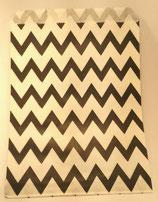 Papiertüten schwarz ZickZack (10 Stk.)