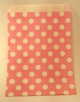Papiertüte rosa Punkte (10 Stk.)