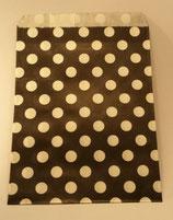 Papiertüte schwarz Punkte (10 Stk.)