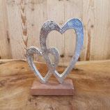 Silber Herzen mit Ständer