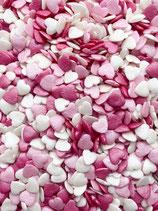 PINK AND WHITE CONFETTI HEARTS