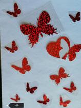 """Bügelbilder Set Nr. 44 """"Schmetterlinge """""""