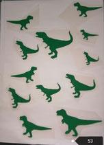 """Bügelbilderset  Nr. 53 """"Dinosaurier"""""""