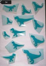"""Bügelbilder Set Nr. 54 """" Dinosaurier """""""