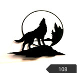 "Bügelbild Nr. 8, "" Wolf"""