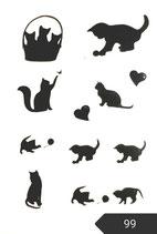 "Bügelbilder Set ""Katze"" Nr. 99"