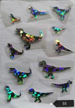 """Bügelbilder Set Nr. 55 """"Dinosaurier"""""""
