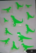 """Bügelbilder Set  Nr. 52  """"Dinosaurier """""""