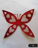 """Bügelbild Nr. 39 """"Schmetterling mit Herz"""
