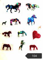"""Bügelbilder Set Nr. 104 """" Pferde"""""""