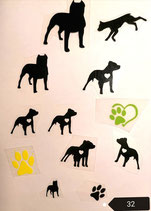 "Bügelbilderset  Nr. 32 ""American Staffordshire Terrier """