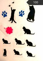 "Bügelbilder Set "" Katze"" Nr. 100"