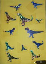 """Bügelbilder Set Nr. 51 """"Dinosaurier """""""