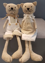 Puppen  Paar   Stoff