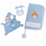 Baby Buchumschlag Bär blau