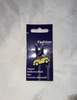 Zip Clip Reissverschluss - Anhänger gelbes Auto