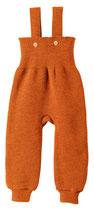 Strickträgerhose orange