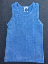Kinder-Unterhemd 0/Arm hellblau 91230