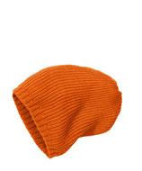 Strick-Mütze orange