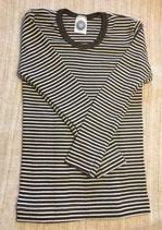 Kinder-Unterhemd langarm braun/natur Nr. 125