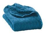 Wolldecke Uni blau