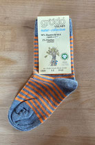 Kindersocken Orange/Grau 12431