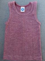 Kinder-Unterhemd 0/Arm Weinrot 91230