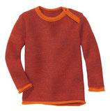 Melange Pullover orange-bordeaux