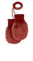 Strick-Handschuh Bordeaux-Rosé