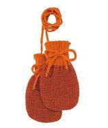 Strick-Handschuh orange-Bordeaux