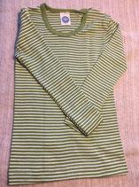 Kinder-Unterhemd langarm grün/natur  Nr.126