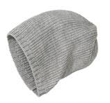 Strick-Mütze Grau