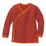 Melange-Jacke orange-bordeaux