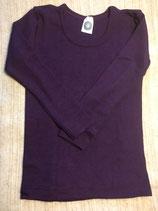 Kinder-Unterhemd langarm  pflaume Nr. 23
