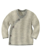 Melange-Jacke grau-natur
