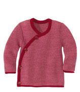 Melange-Jacke bordeaux-rosé