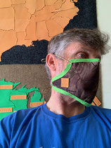 Protective Face Mask with Face and Chin Coverage and Head - Neck Ties