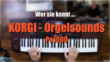 K010 KORGI Orgelsounds / Keyboard-Sets