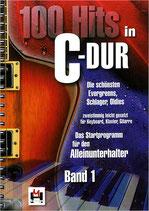 """K001  50 Songbucheinträge zum Buch """"100 Hits in C-Dur"""" Band 1"""