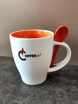 Kaffee- bzw. Teehäferl mit Löffel 1 Stk