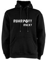 Hoodie - RUHRPOTT ROCKT schwarz