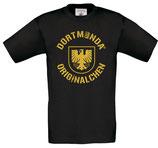 T-Shirt Kids schwarz Dortmunda-Originalchen-Stadtwappen