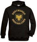 Kinder Hoodie schwarz - Dortmunda-Originalchen Stadtwappen