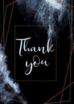Postkarte - Thank you - 127mm x 177.8mm