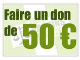 Don en ligne 50€