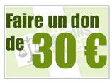 Don en ligne 30€